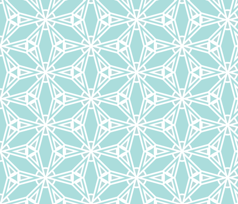 Crystal Ice Blue Snowflake fabric by mariafaithgarcia on Spoonflower - custom fabric