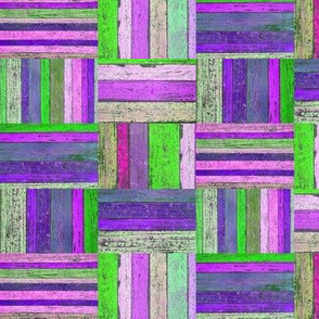 SPRING GREEN PURPLE PARQUETRY WOOD MOSAIC PARQUET PLANK BOARDS TILES