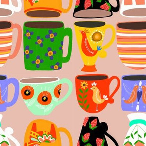 Coffee Cups in Pink