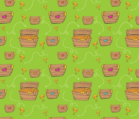 Treasure Chests fabric by katievaz on Spoonflower - custom fabric
