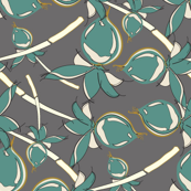 Teal Berries on Gray_Miss Chiff Designs