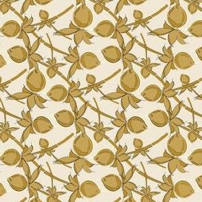 Gold Berries on cream_Miss Chiff Designs