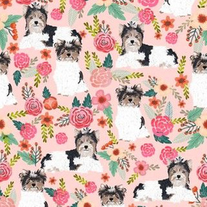 biewer terrier dogs fabric cute floral dog designs best dogs fabric for toy breed dog owners