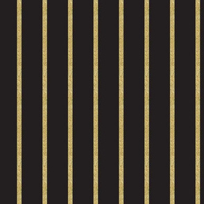 Glitter Gold Stripe on Black