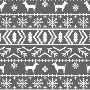 chihuahua dogs fabric fair isle fabrics christmas dogs christmas fabric chiahuahuas fabric