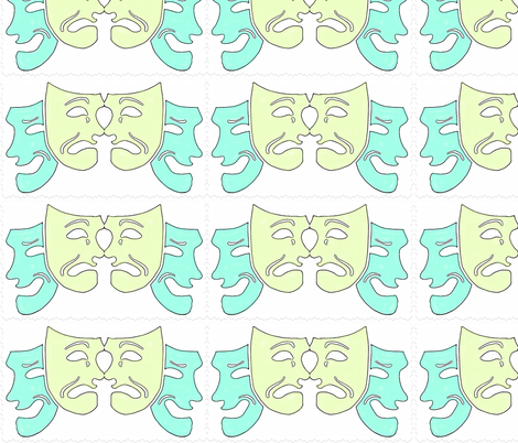 Theater Masks 5 fabric by robin_rice on Spoonflower - custom fabric