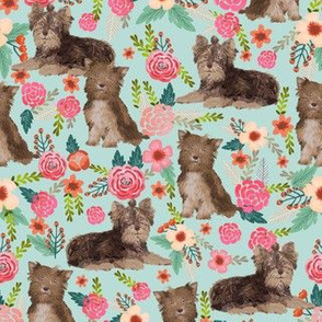 chocolate yorkie fabric cute chocolate yorkshire terrier florals vintage style floral fabric cute christmas fabrics