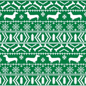 doxie christmas fabric fair isle fabric christmas dogs fabric cute dachshunds fabric