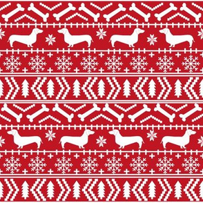 doxie fair isle fabric christmas fabric ugly sweater fabrics xmas holiday christmas fabrics