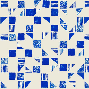 Stamp Series in Blue