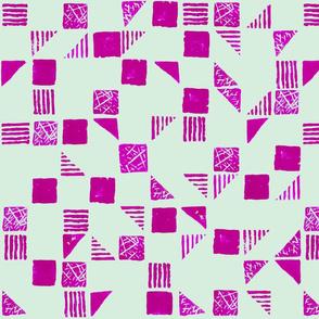 Stamp Series in Pink