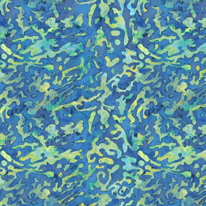 Green and Blue Abstract Biology Science Inspired