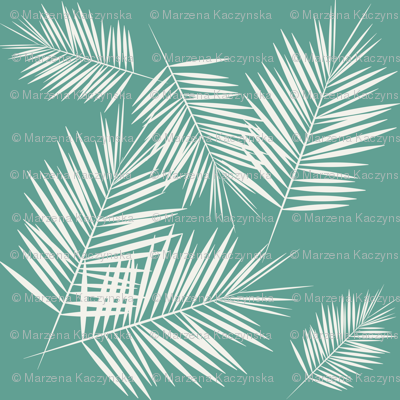 Palm leaf - tropical aqua green Palm leaves Palm tree tropical summer fun