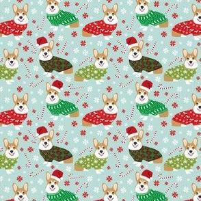 corgi christmas fabric cute xmas holiday ugly sweater fabric christmas sweater fabric cute red and green fabric