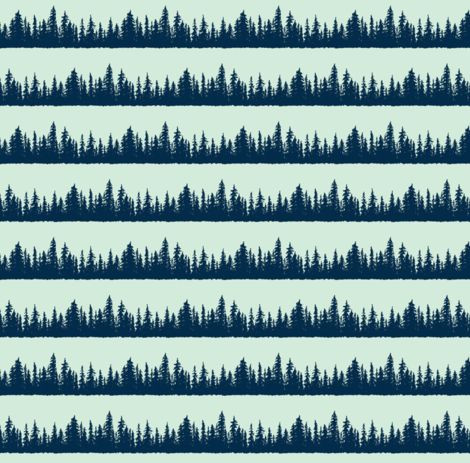 Lines of Pines fabric by brittany_vogt on Spoonflower - custom fabric