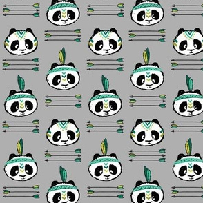panda w/ arrow stack (dark green) small scale || pandamonium