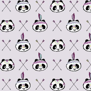 panda w/ arrow cross (purple) small scale