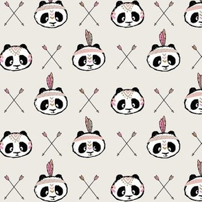 panda w/ arrow cross (pink) small scale