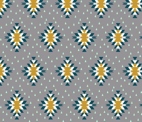 Tribal Diamond Dark Teal fabric by mrshervi on Spoonflower - custom fabric