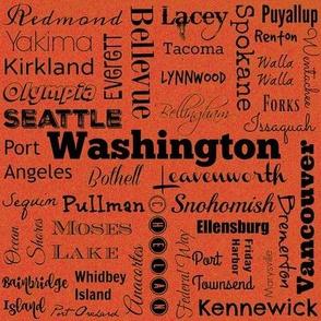 Cities of Washington, orange
