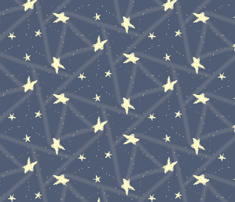 Clear night sky fabric myvisualmark spoonflower for Night sky print fabric