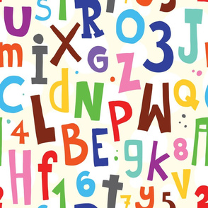 Cartoon doodle colorful alphabet