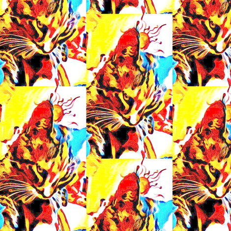 weebeastielicking_picsart-ed fabric by fourraccoons on Spoonflower - custom fabric