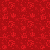 Merry Snowflakes-Red