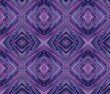 LP - Liquid Purple,  Diamonds on Point, small fabric by maryyx on Spoonflower - custom fabric