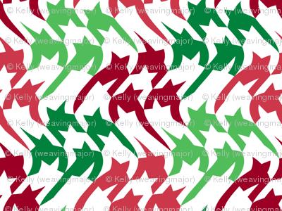 Christmas houndstooth wave