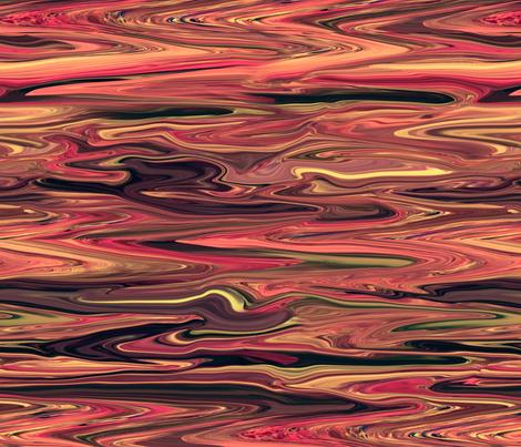 LBO - Liquid Burnt OrangeMarble, Molten Lava, Crosswise Grain, Large Scale fabric by maryyx on Spoonflower - custom fabric
