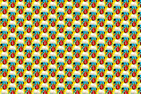 pears_picsart-ed fabric by fourraccoons on Spoonflower - custom fabric
