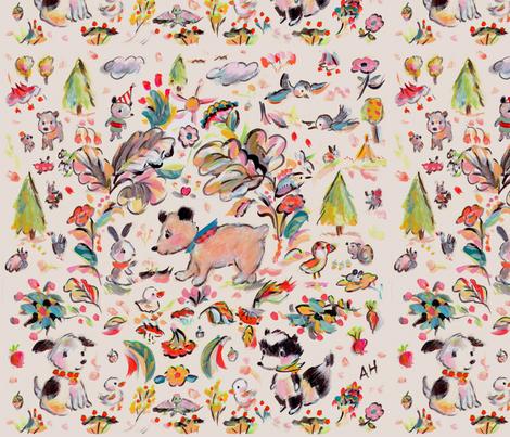 Fall in Love fabric by allyn_howard on Spoonflower - custom fabric