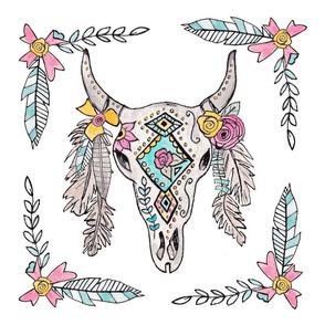 Southwestern Boho Skull