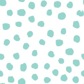 mint dots painted dots girls nursery baby dot fabric cute coordinate