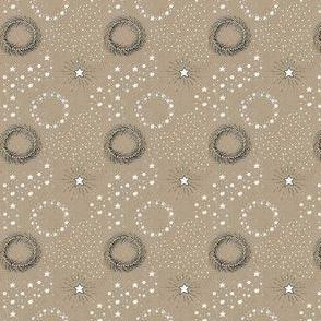 Stars on kraft paper