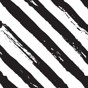 Black and white diagonal grunge paint brush lines