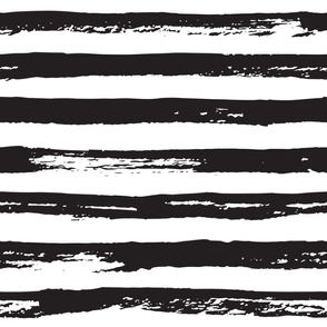 Paint brush grunge stripes black and white