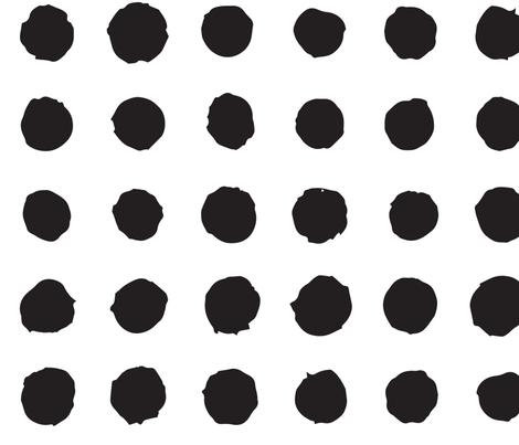 Paint brush polka dots fabric by dmitriylo on Spoonflower - custom fabric
