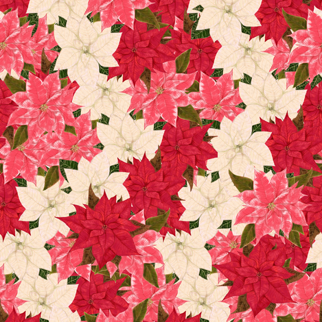 Poinsettias Overall fabric by eclectic_house on Spoonflower - custom fabric