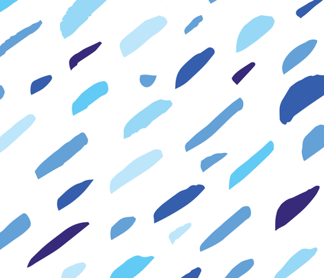 Brush touches blue fabric by dmitriylo on Spoonflower - custom fabric