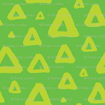 Grunge triangles green