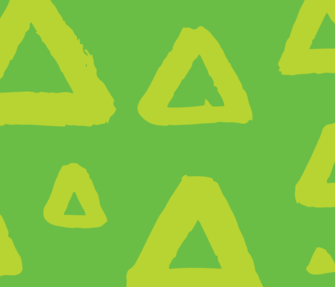 Grunge triangles green fabric by dmitriylo on Spoonflower - custom fabric