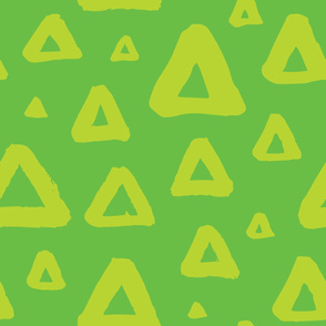 Grunge triangles green