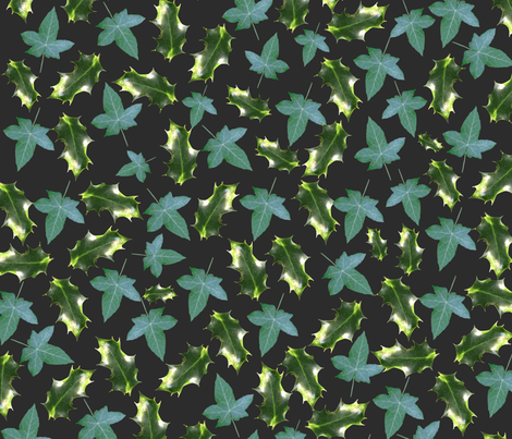 The holly and the ivy fabric by redthanet on Spoonflower - custom fabric
