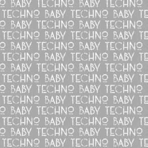 techno baby text