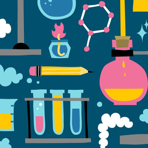 Chemistry science cartoon equipment