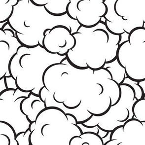 Pop art speech bubble clouds