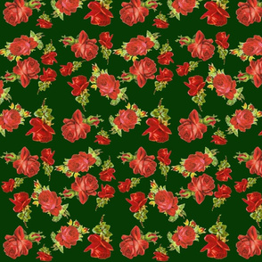 green_and_red_roses
