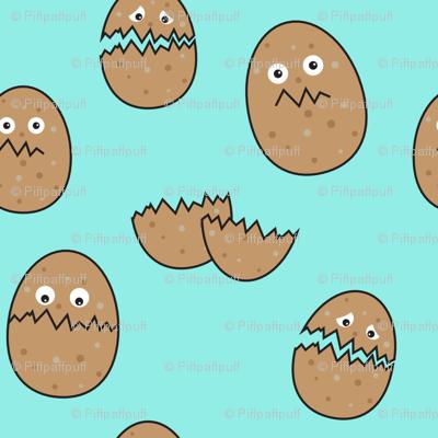 Eggs shell // turquoise breakfast food eggs shells mint